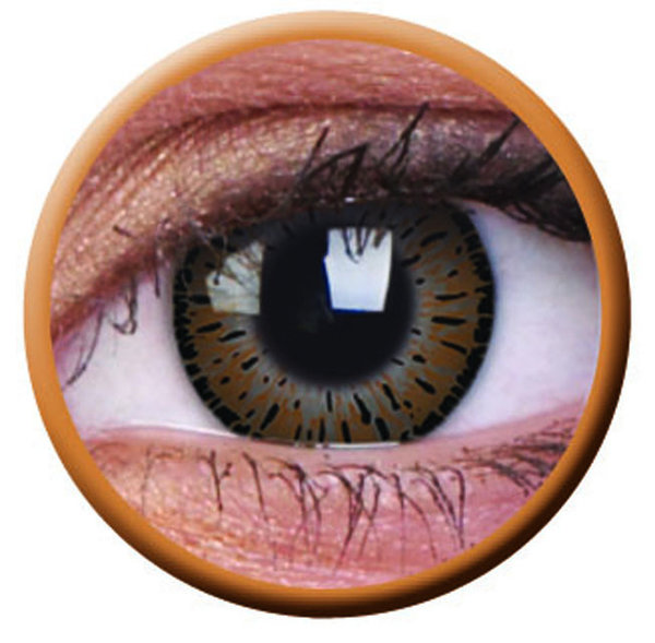 ColourVue Elegance - Brown (2 čočky tříměsíční) - dioptrie-0,75 exp.2/2021