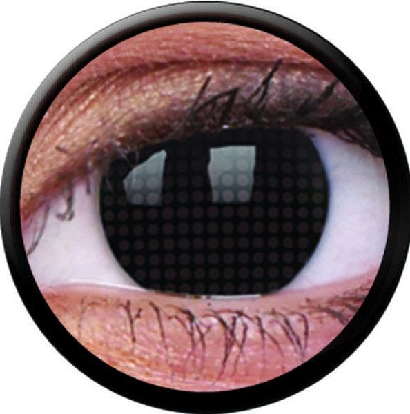 ColourVue Crazy čočky - Black Screen (2 ks roční) - nedioptrické - exp.02/21