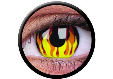 ColourVue Crazy čočky - Flame Hot (2 ks roční) - nedioptrické