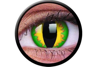 ColourVue Crazy čočky - Green Dragon (2 ks roční) - nedioptrické