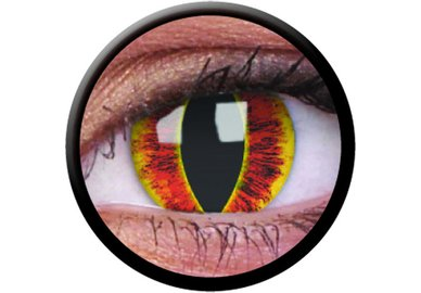 ColourVue Crazy čočky - Saurons Eye (2 ks roční) - nedioptrické - exp.02/22