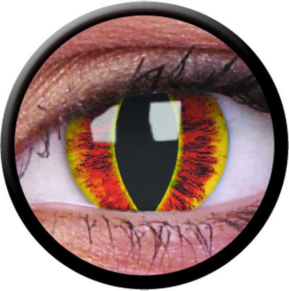 ColourVue Crazy čočky - Saurons Eye (2 ks roční) - nedioptrické - výprodej 12/2017