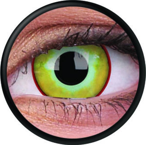ColourVue Crazy čočky - Yellow Plague (2 ks roční) - nedioptrické