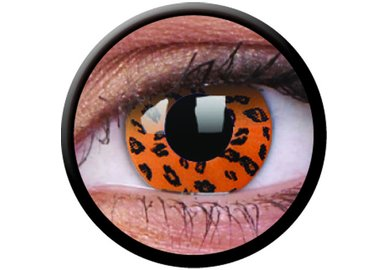 ColourVue Crazy čočky - Yellow Leopard (2 ks roční) - nedioptrické - exp.04/2020