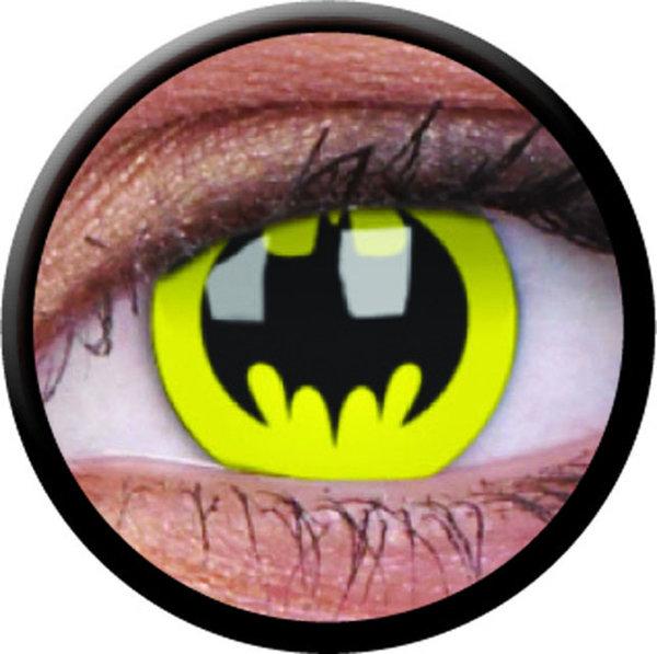 ColourVue CRAZY ČOČKY - Bat Crusader (Batman) (2 ks tříměsíční) - nedioptrické - exp.12/20