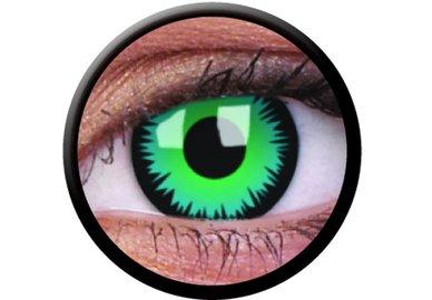 ColourVue CRAZY ČOČKY - Green Werewolf (2 ks tříměsíční) - dioptrické