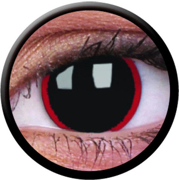 ColourVue CRAZY ČOČKY - Hell Raiser (2 ks tříměsíční) - dioptrické - doprodej