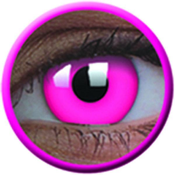 ColourVue Crazy čočky UV svítící - Glow Pink (2 ks roční) - nedioptrické-poškozený obal