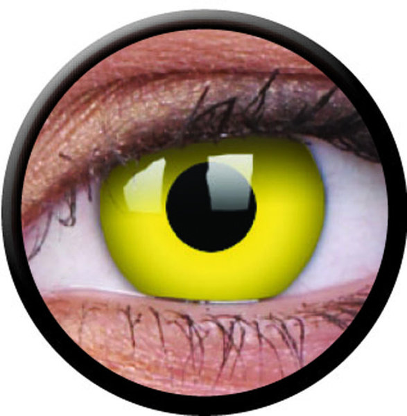ColourVue CRAZY ČOČKY - Yellow (2 ks tříměsíční) - dioptrické - doprodej 10/2018