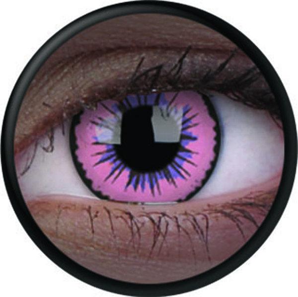 ColourVue Crazy čočky UV svítící - Glow Pink Jubilee (2 ks roční) - nedioptrické