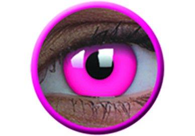 ColourVue Crazy čočky UV svítící - Glow Pink (2 ks roční) - nedioptrické - exp.4/2020