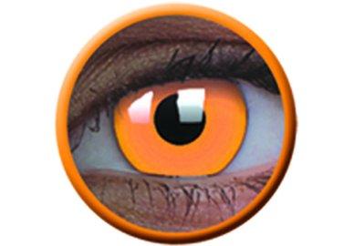 ColourVue Crazy čočky UV svítící - Glow Orange (2 ks roční) - nedioptrické