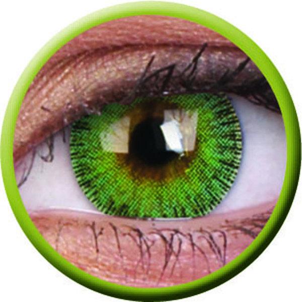 ColourVue Fusion - Yellow Green (2 čočky tříměsíční) - nedioptrické