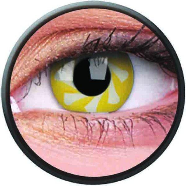 Phantasee Crazy čočky - Yellow Spin (2 ks roční) - nedioptrické - exp.02/2021