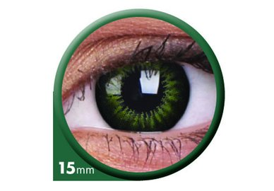 ColourVue Big Eyes - Party Green (2 čočky tříměsíční) - nedioptrické