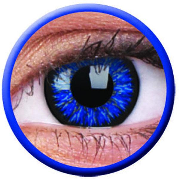 ColourVue Glamour - Blue (2 čočky tříměsíční) - dioptrie-4,75 - exp.06/2020