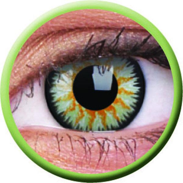 ColourVue Glamour - Green (2 čočky tříměsíční) - nedioptrické