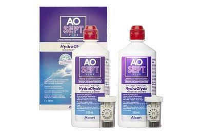 AOSEPT Plus HydraGlyde 2 pack 2x360 ml se 2 pouzdry -  poškozený obal