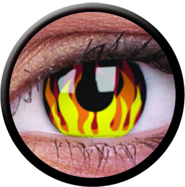 ColourVue Crazy čočky - Flame Hot (2 ks roční) - nedioptrické - exp.02/2021