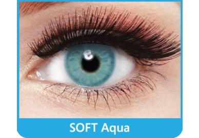 SoftColours - Aqua (2 měsíční čočky) - nedioptrické