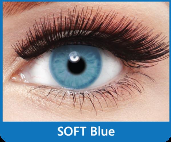 SoftColours - Blue (2 měsíční čočky) - nedioptrické