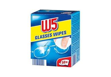 Ubrousky na čištění brýlí vlhčené W5 54 kusů
