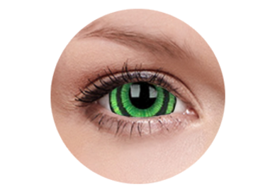 ColourVue Crazy čočky 17 mm - Green Goblin (2 ks roční) - nedioptrické