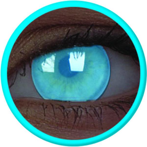 ColourVue Crazy čočky UV svítící - Electric Blue (2 ks roční) - nedioptrické - exp.02/22