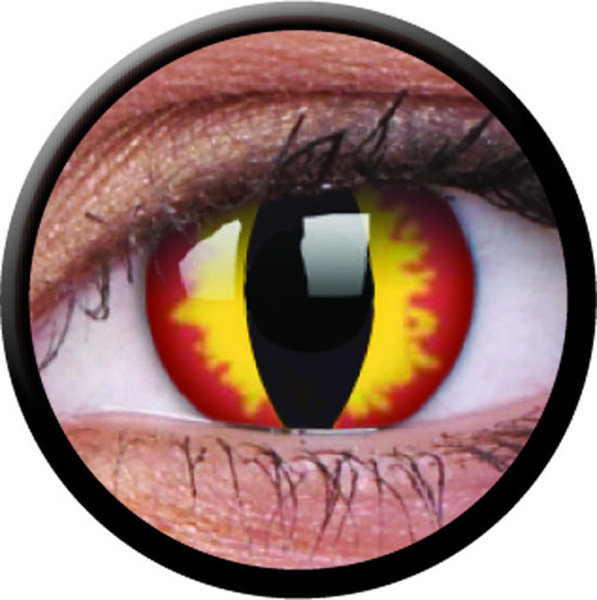 ColourVue Crazy čočky - Dragon Eyes (2 ks jednodenní) - nedioptrické - Výprodej - Expirace 07/2021