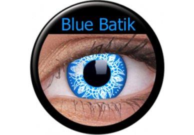 ColourVue Crazy čočky - Blue batic (2 ks roční) - nedioptrické