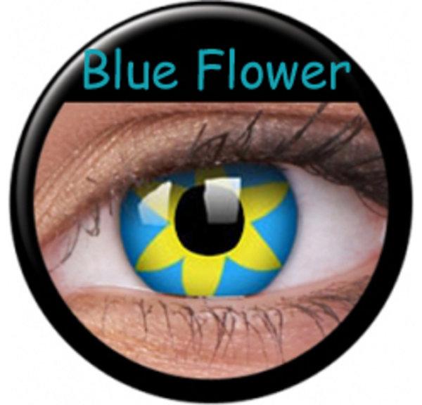 Crazy čočky 2 ks roční - Blue Flower