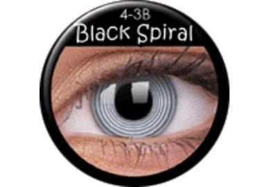 ColourVue Crazy čočky - Black Spiral (2 ks roční) - nedioptrické