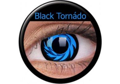 ColourVue Crazy čočky - Blue Tornado (Black Tornado) (2 ks roční) - nedioptrické