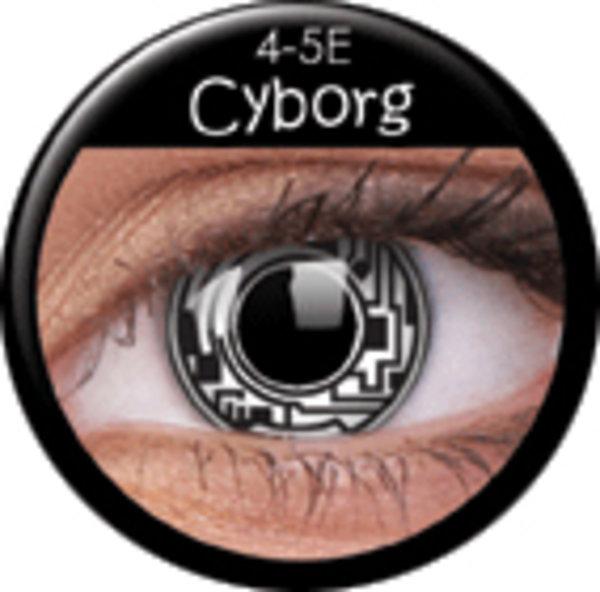 ColourVue Crazy čočky - Cyborg (2 ks roční) - nedioptrické