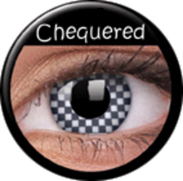 ColourVue Crazy čočky - Chequered (2 ks roční) - nedioptrické - exp.02/21
