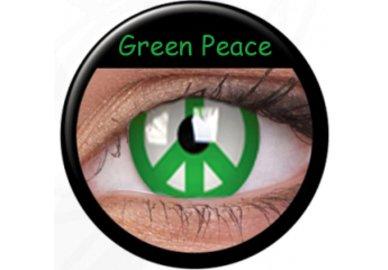 Phantasee Crazy čočky - Green Peace (2 ks roční) - nedioptrické