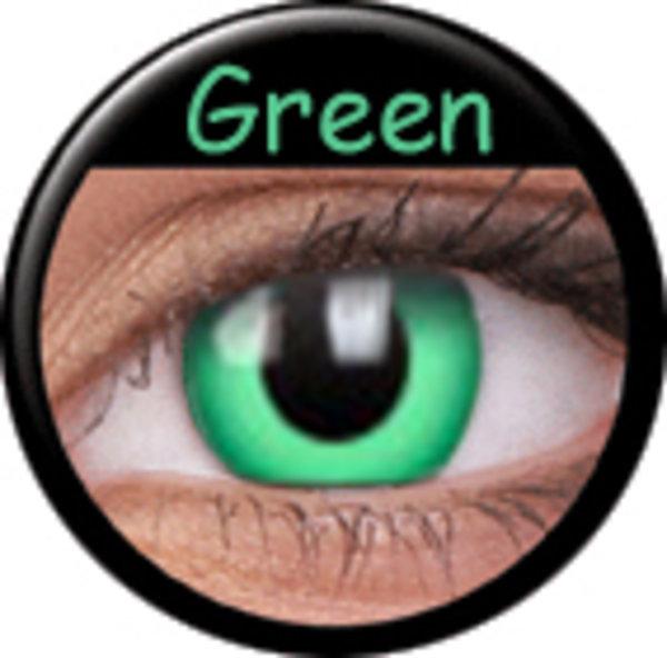 Phantasee Crazy čočky - Green (2 ks roční) - nedioptrické