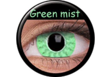 Phantasee Crazy čočky - Green Mist (2 ks roční) - nedioptrické