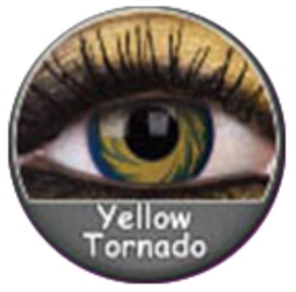 Phantasee Crazy čočky - Yellow Tornado (2 ks roční) - nedioptrické
