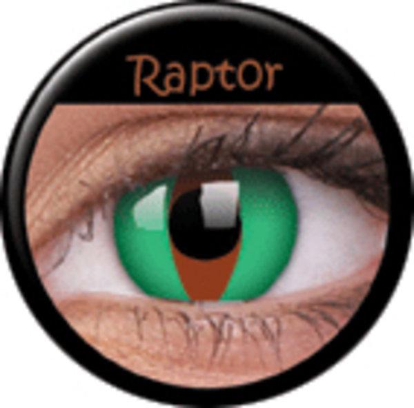 ColourVue Crazy čočky - Raptor (2 ks roční) - nedioptrické - exp.12/2016