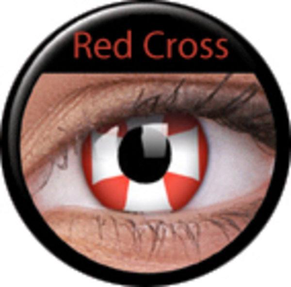 Crazy čočky 2 ks roční - Red Cross - AKCE!!