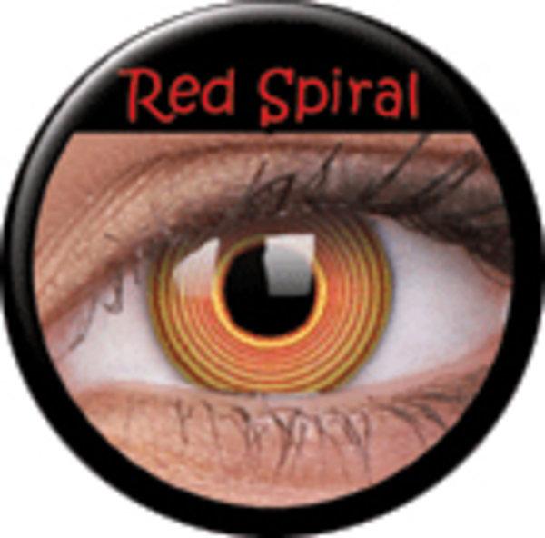 ColourVue Crazy čočky - Red Spiral (2 ks roční) - nedioptrické