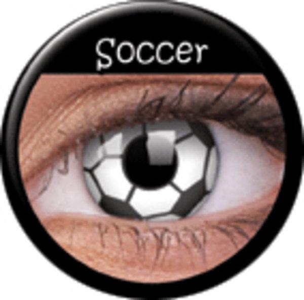 ColourVue Crazy čočky - Soccer (2 ks roční) - nedioptrické