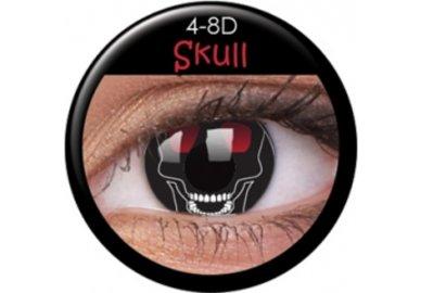 ColourVue Crazy čočky - Skull (2 ks roční) - nedioptrické