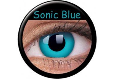 ColourVue Crazy čočky - Sonic Blue (2 ks roční) - nedioptrické