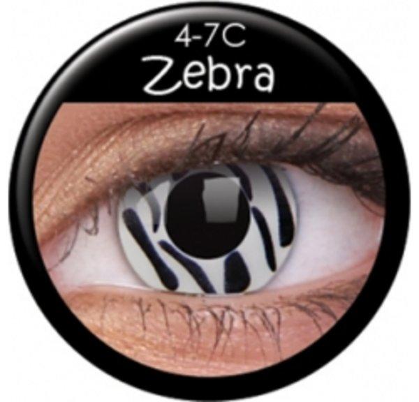 ColourVue Crazy čočky - Zebra (2 ks roční) - nedioptrické
