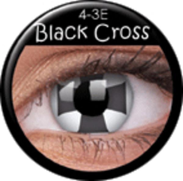ColourVue CRAZY ČOČKY - Black Cross (2 ks tříměsíční) - nedioptrické