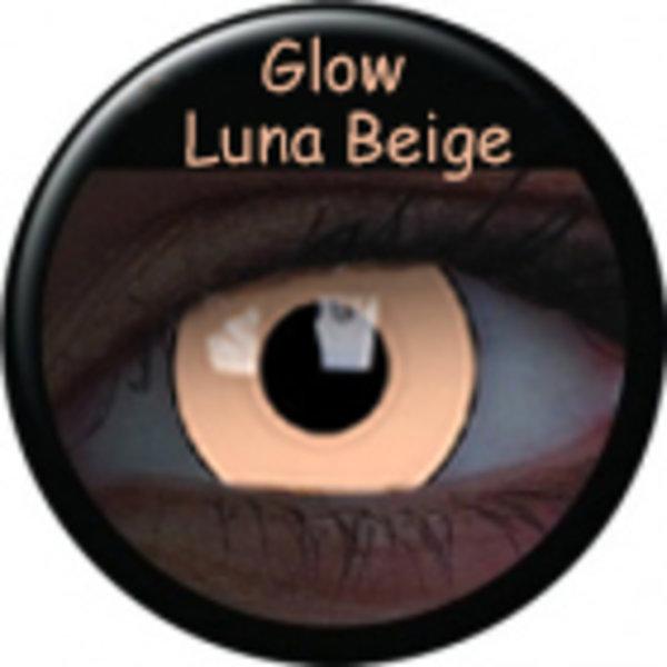 Crazy čočky UV svítící (2 ks, roční) - Glow Luna Beige