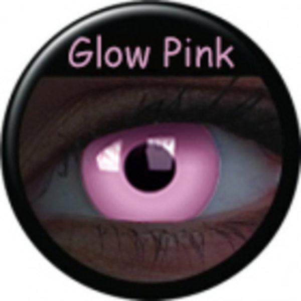 Crazy čočky UV svítící (2 ks, roční) - Glow Pink