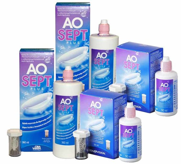 AOSEPT Plus 2x360ml + 2x90ml + 4x pouzdro